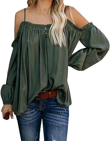 Xia/&Han Women/'s Button-Down Shirts with Pocket Print Long Sleeve Blouse Tops Loose Tunics Tees Dress