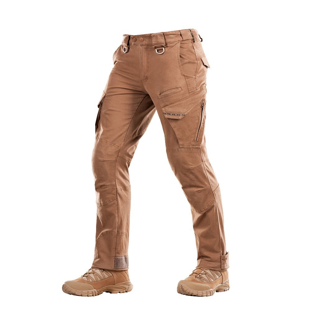 M-Tac Aggressor Vintage - Tactical Pants - Men Cotton with Cargo Pockets (Coyote, L/R)
