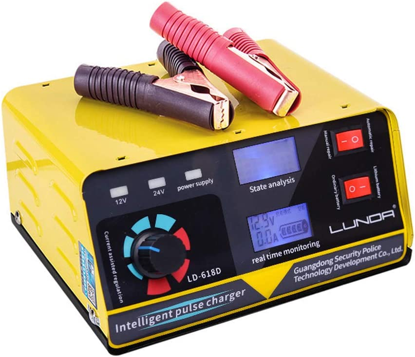 HWUKONG Rápido Inteligente Cargador de batería, automático Lleno de batería Inteligente Mantenedor, baterías de Motocicletas Fuente de alimentación del Coche Accesorios 240W 12V / 24V 20A 6-400AH