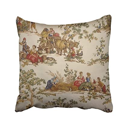 indian antique french cushions. Jagfhhs Decorative Pillowcases Vintage French Country Toile Mojo Throw  Pillow Covers Cases Home Decor Sofa Cushion Indian Antique French Cushions N