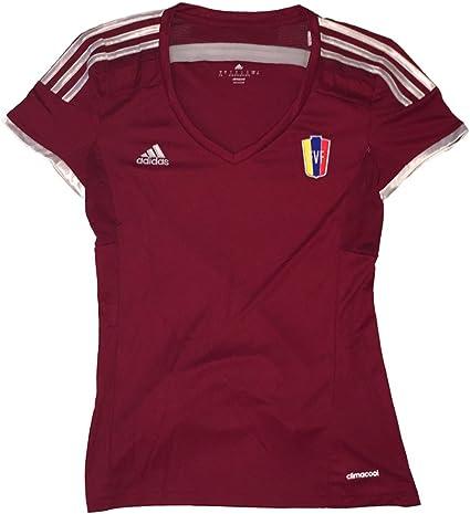 Adidas Las Mujeres de Venezuela la Vinotinto FVF Jersey, Rojo Vino: Amazon.es: Deportes y aire libre