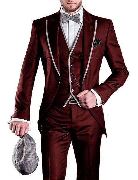 DGMJ 3 Piece Wedding Suits for Men Slim Fit Suits Party Prom