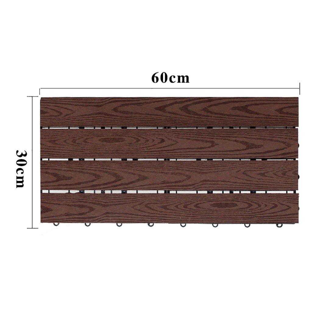migliore vendita Floor Floor Floor GY Pavimenti di Legno Pavimentazione Esterna, plastica di Legno Cortile Giardino Cortile Antiscivolo Pavimento Balcone Bagno anticorrosione WPC Dimensioni della pavimentazione  60  30  2,2 cm  promozioni eccitanti