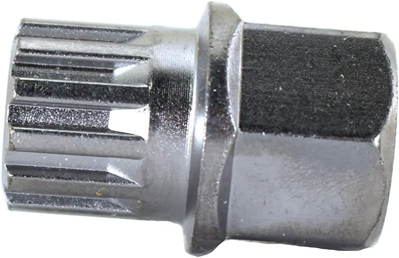 TEMO 21 pc Wheel Lock Lugnut Anti-Theft Lug Nut Screw Removal Key Socket Set for Bmw with 1//2 Inch 12.7 mm Socket Adapter
