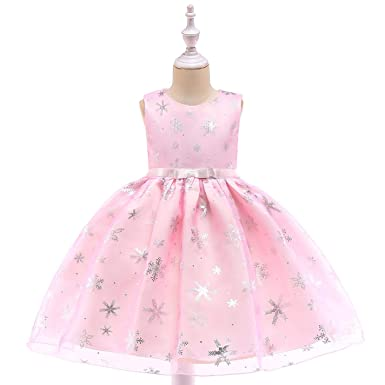 Image Unavailable. Image not available for. Color  Girls Christmas Dress  Kids Snowflake Dresses for Girls Princess ... 922afd42a44b