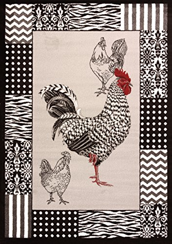 Rooster Black Area Rugs - 2