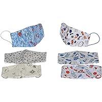 Dalay-Cubrebocas de niño, paquete de 6 piezas, en tela, lavable, reversible, con filtro de seguridad armado en tres capas.