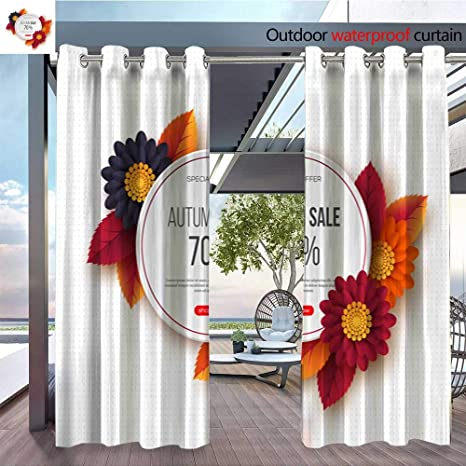Amazon com : Outdoor- Free Standing Outdoor Privacy Curtain Autumn