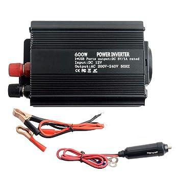 Reiner Sinus Spannungswandler Wechselrichter Fernbedienung DC 12V AC 220V 600W