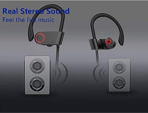 Sbode Wireless Earbuds Headphones, Bluetooth Sports Earphones w Mic, IPX7 Waterproof, HD Stereo Bass, Sweatproof Earbuds for Gym Running, Workout 7-9 Hours