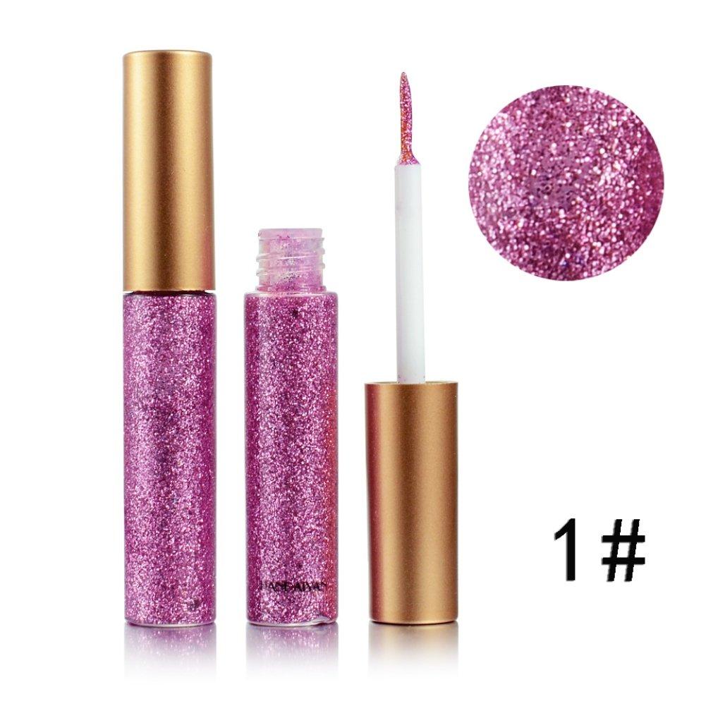 OYGIRL 10 Color Diamond Glitter & Shimmer Style Liquid Eyeliner Eyeshadow Color