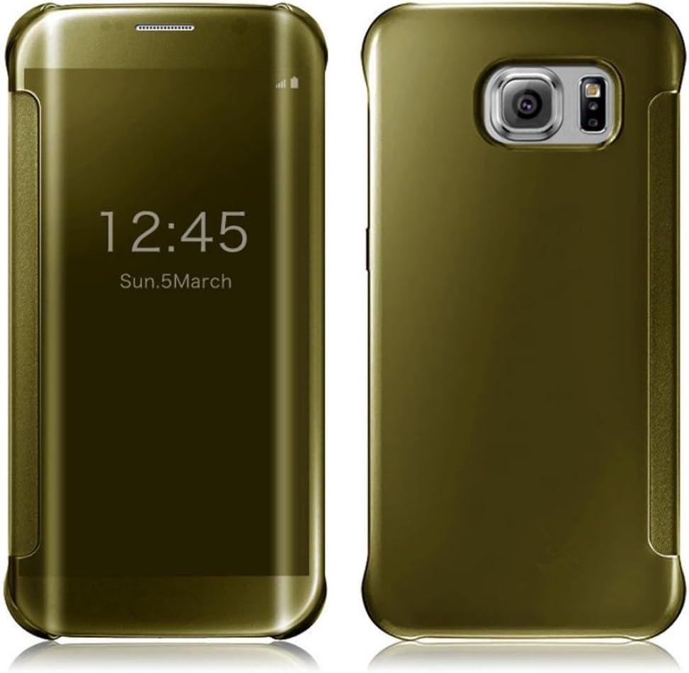 per samsung galaxy s6 edge sannysis specchio di lusso sottile custodia (argento)