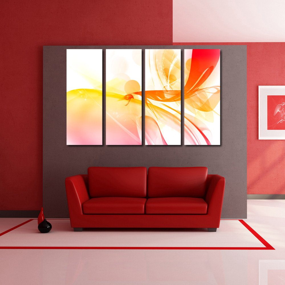 999store Multiple Frames Wall Art Panels With Canvas Frame Printed Spectrum Painting Framed Amazon In Home Kitchen