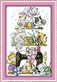 #3: Joy Sunday Cross Stitch Kits 14CT Counted Kitten Beside The Sewing Machine 13.78