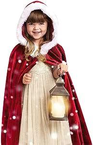 letter, Niños Chico Niña Capa Navidad Disfraz Santa