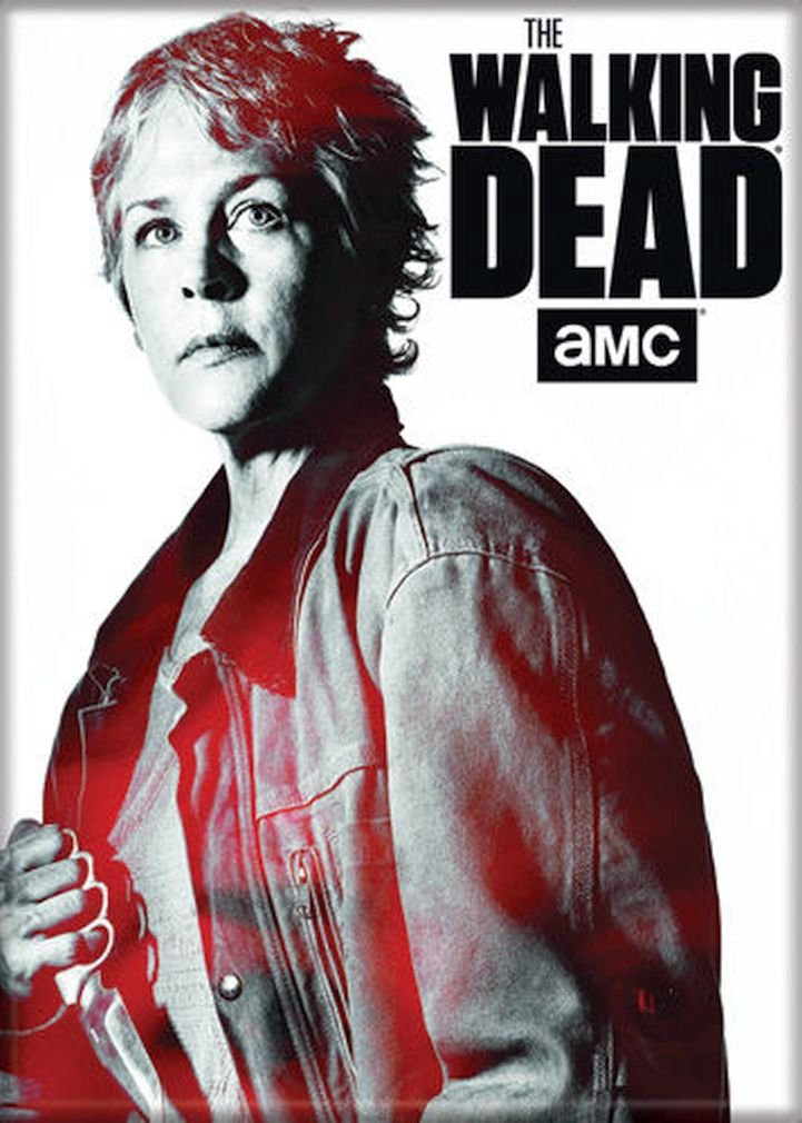 """Ata-Boy The Walking Dead Carol with Dagger 2.5"""" x 3.5"""" Magnet for Refrigerators and Lockers"""