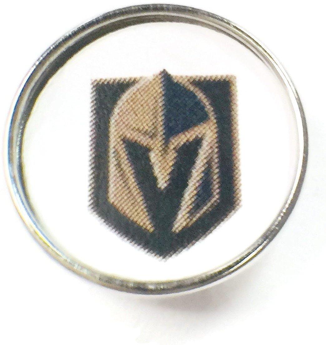 ファッションスナップジュエリーNHL HockeyロゴVegas Golden Knights 18 mm – 20 mmスナップチャーム B078P36TVV