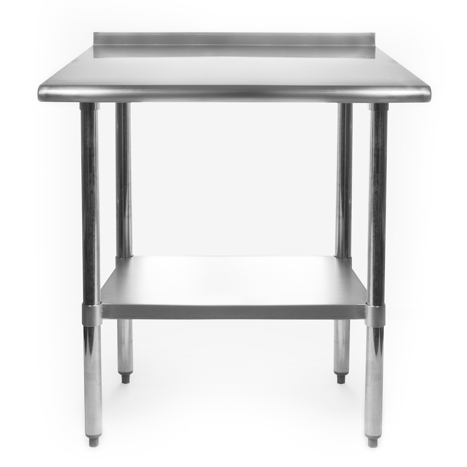 Gridmann Stainless Steel Commercial Kitchen Prep & Work Table w/ Backsplash - 30'' x 24'' by Gridmann (Image #2)