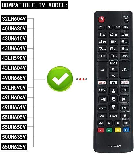 FOXRMT - Mando a distancia LG para Smart TV AKB75095308: Amazon.es ...