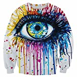 A completely unique and eye-catching top (literally). You can't look away from the detailed, realistic artwork on the front and back. Made of machinewashable 100% polyester. Imported. S-XXL.