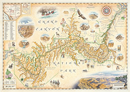 The Grand Canyon National Park Map - Map Art