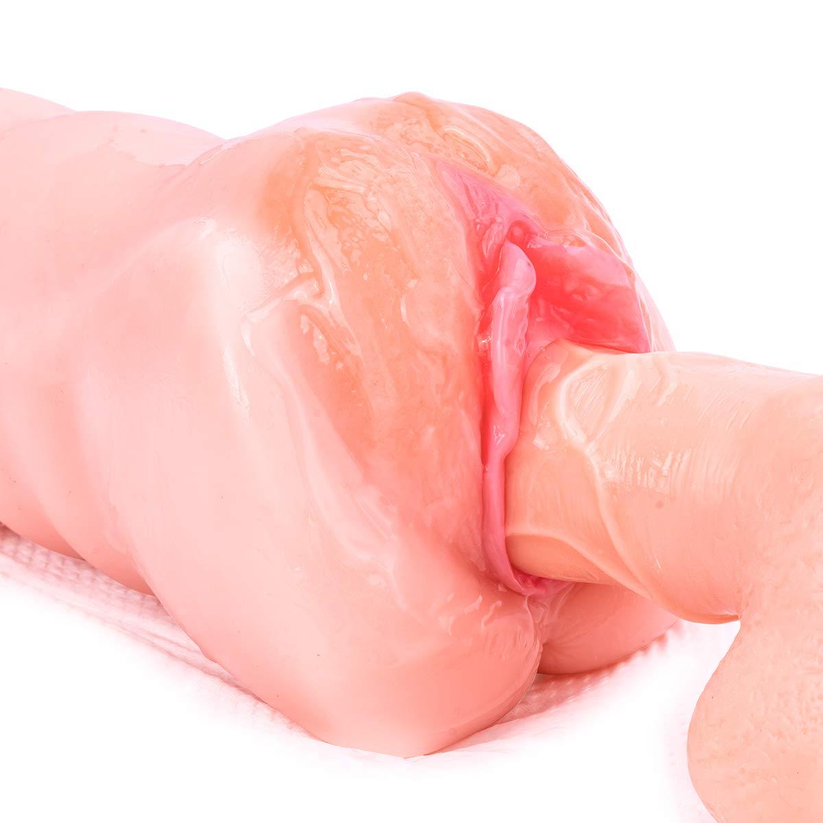 Vagina Masturbator, ZEMALIA realistische Masturbator Muschi Masturbation Vagina Onanist Penisring Sexspielzeug für Männer