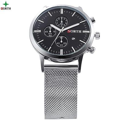 HWCOO Relojes de Pulsera North AliExpress Watch Reloj de Cuarzo para Hombre Reloj de Cuarzo Resistente al Agua (Color : 1): Amazon.es: Relojes