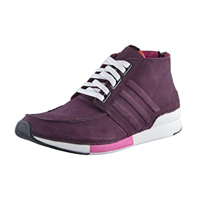 49a75bca6be adidas SLVR Men s Purple Hi Top Nubuck Leather Fashion Sneakers Shoes US  9.5 IT 43 1
