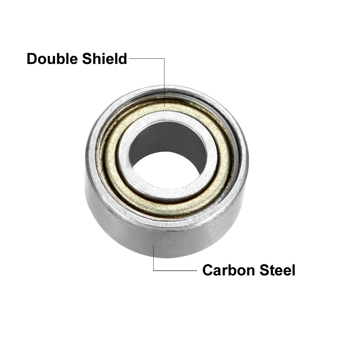 Pack of 10 3mm x 8mm x 4mm Carbon Steel Bearings sourcing map 693ZZ Deep Groove Ball Bearing Double Shield 693-2Z 2080093