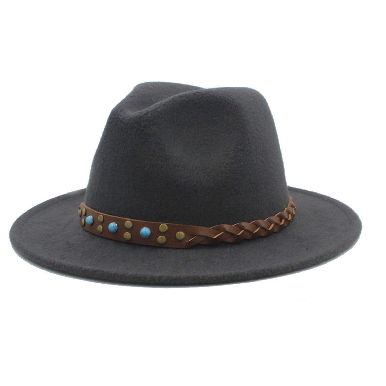 Retro Fedora Hats Unisex for Elegant Winter Autumn Wide Brim Jazz Church Godfather Sombrero Sun Caps