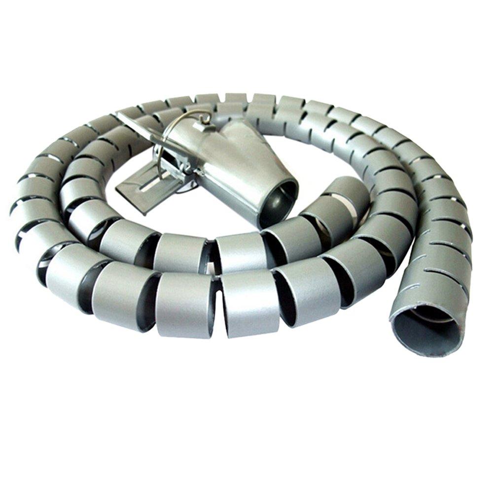 Godagoda Spiral Cable Wrap Desktop Computer Cable Management, 15mm-30mm
