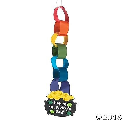 Amazon St Patricks Day Rainbow Paper Chain Craft Kit Toys