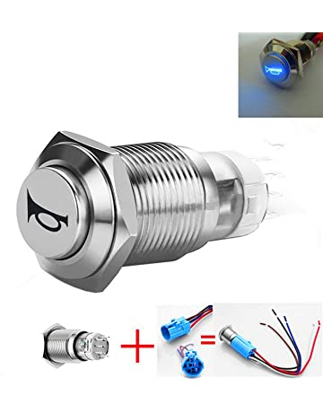 Air Conditioning Cnc Machined Push Button Switch 12 Volt Round Screw Fit