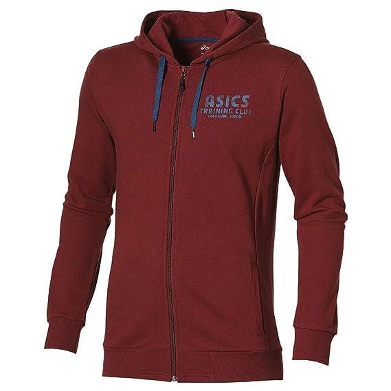 ceb12915c495 Asics Training Club Fz Hoodie Homme Sweat Bordeaux  Amazon.fr  Vêtements et  accessoires