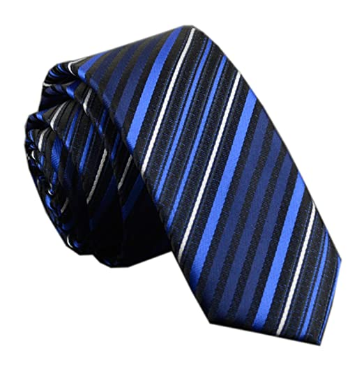 c97d56803384 Men Black and Blue Fashion Style Designer Inspired Tie Pretty Birthday Bf  Gifts at Amazon Men's Clothing store: