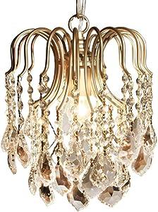 Modern Boho Chandelier Raindrop Crystals Chandelier Light Fixtures Flush Mount Ceiling Boho Light Lighting for Hallway Bedroom,Dining Room,Living Room, Gold Light with Warm Light LED Bulb Included
