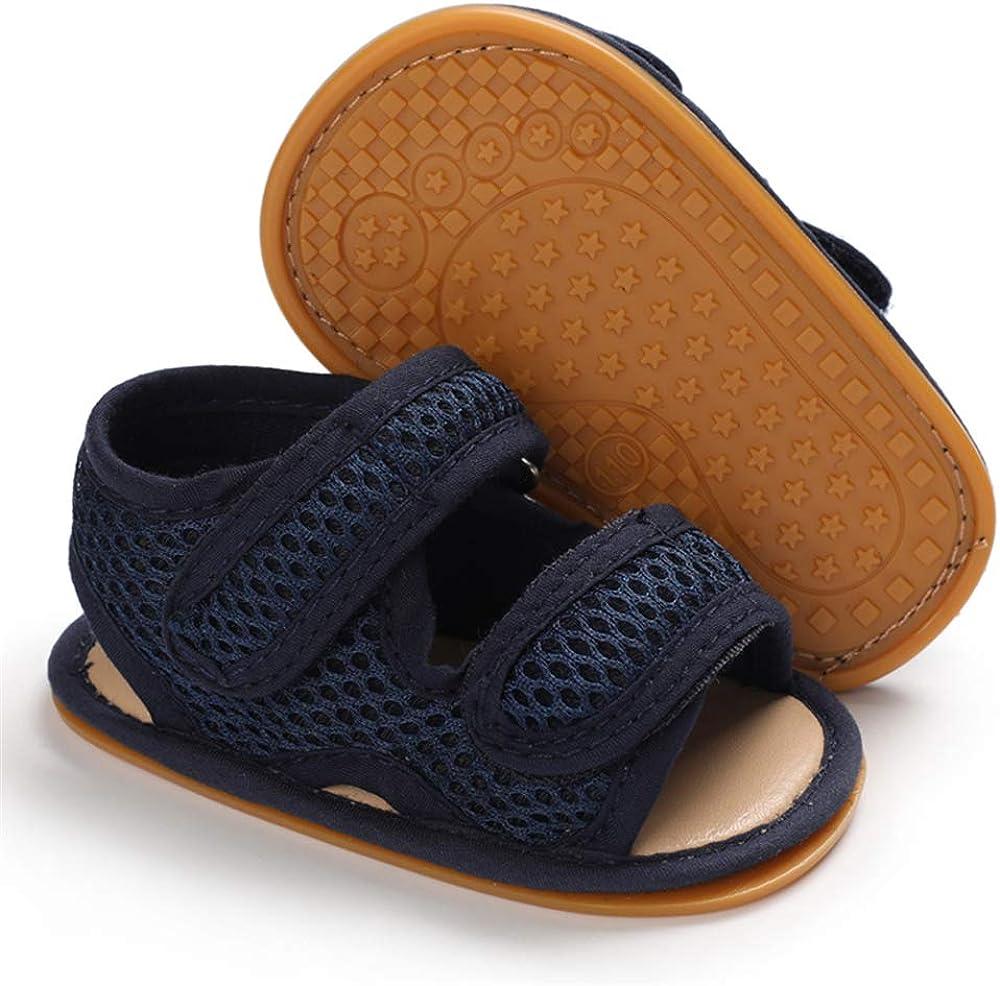 Sandale Bout Ouvert B/éb/é Gar/çon /Ét/é Chaussure Bebe Plat Caoutchouc Antiderapant Scratch
