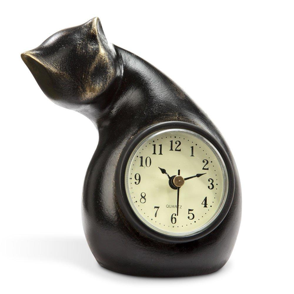 Amazon cat clock home kitchen amipublicfo Gallery