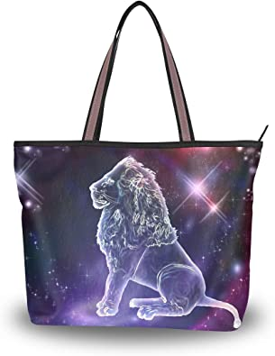 Water-Proof Bag INTERESTPRINT Zodiac on Starry Sky Travel Duffel Bag