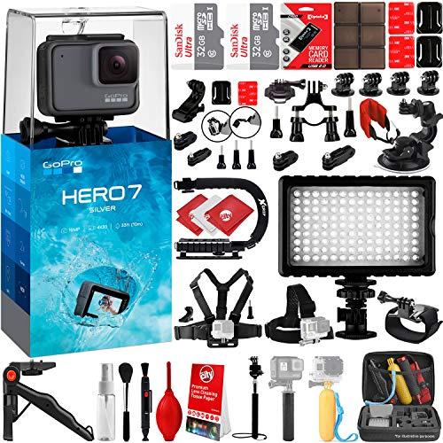 GoPro HERO7 Silver 4K 10MP Digital Camcorder w/ 64GB - 42PC