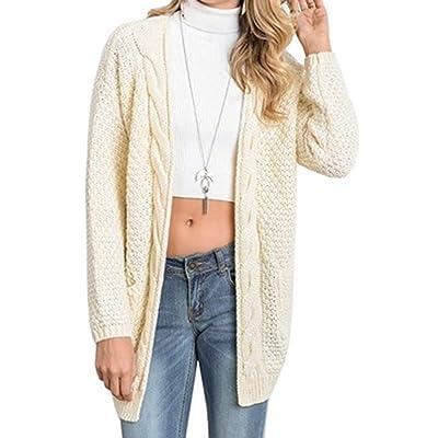 Wenyujh Femmes Veste Chandail Cardigan à Manches Longues Tricot Sweaters Elégant Pull Gilet Casual Fashion