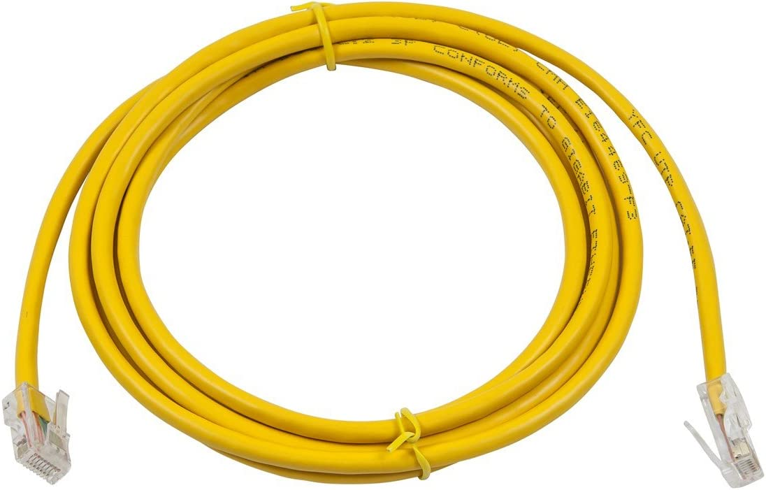 Buhbo 200 ft Cat5E UTP Ethernet Network Non Booted Cable Yellow