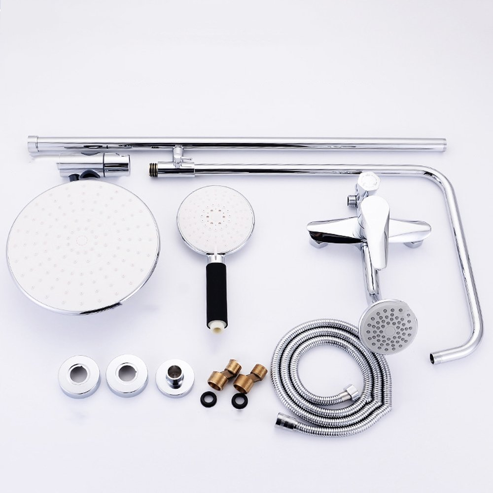Sanitary dripping three stalls shower multi-function lift lift lift tube booster baby shower head bcb1f7