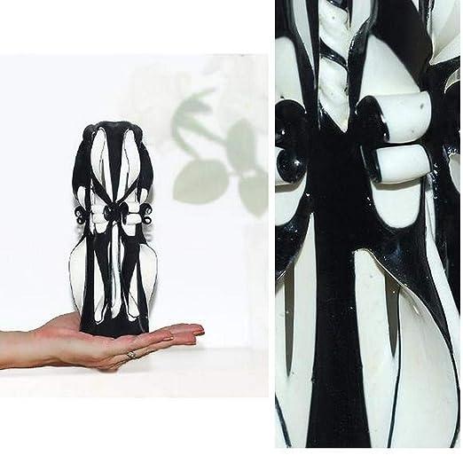 Vela Design Negro Blanco Regalo Cumpleaños Hombre Vela hecho ...