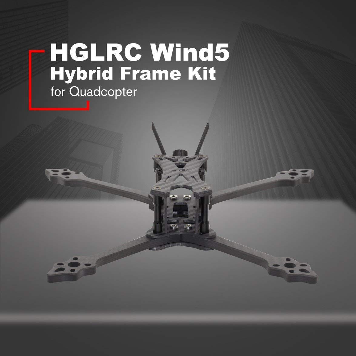 Kongqiabona HGLRC Wind 5 Hybrid FPV Racing Drone Frame Kit 6mm ...