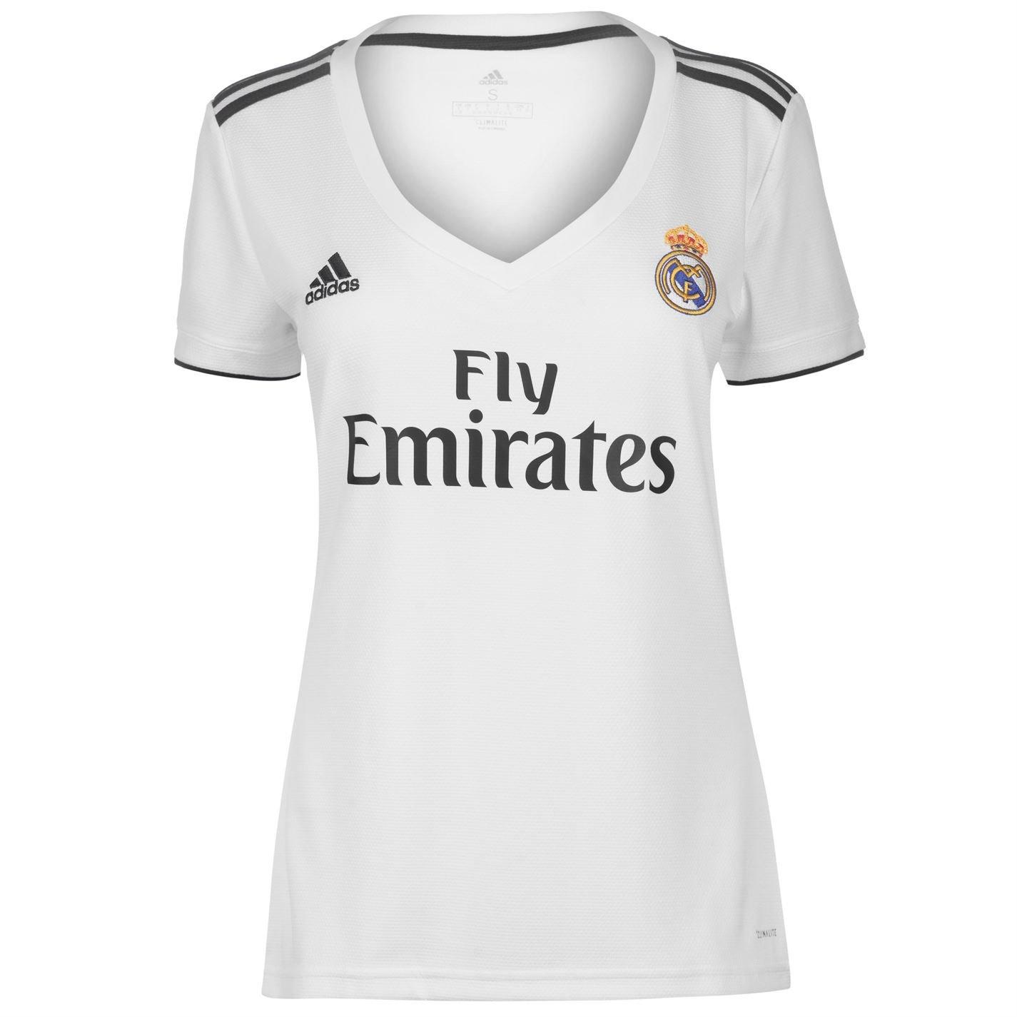 e75360ed0 Amazon.com   adidas 2018-2019 Real Madrid Womens Home Football Soccer T-Shirt  Jersey   Sports   Outdoors