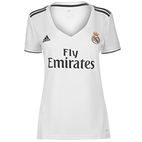 Amazon.com   adidas 2018-2019 Real Madrid Womens Home Football ... 7c2f9c5fad950