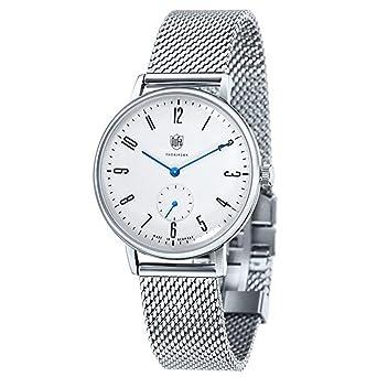 Mit Edelstahl Dufa 12 Df 9001 Unisex Uhr Armband Quarz Analog QexdWroCB