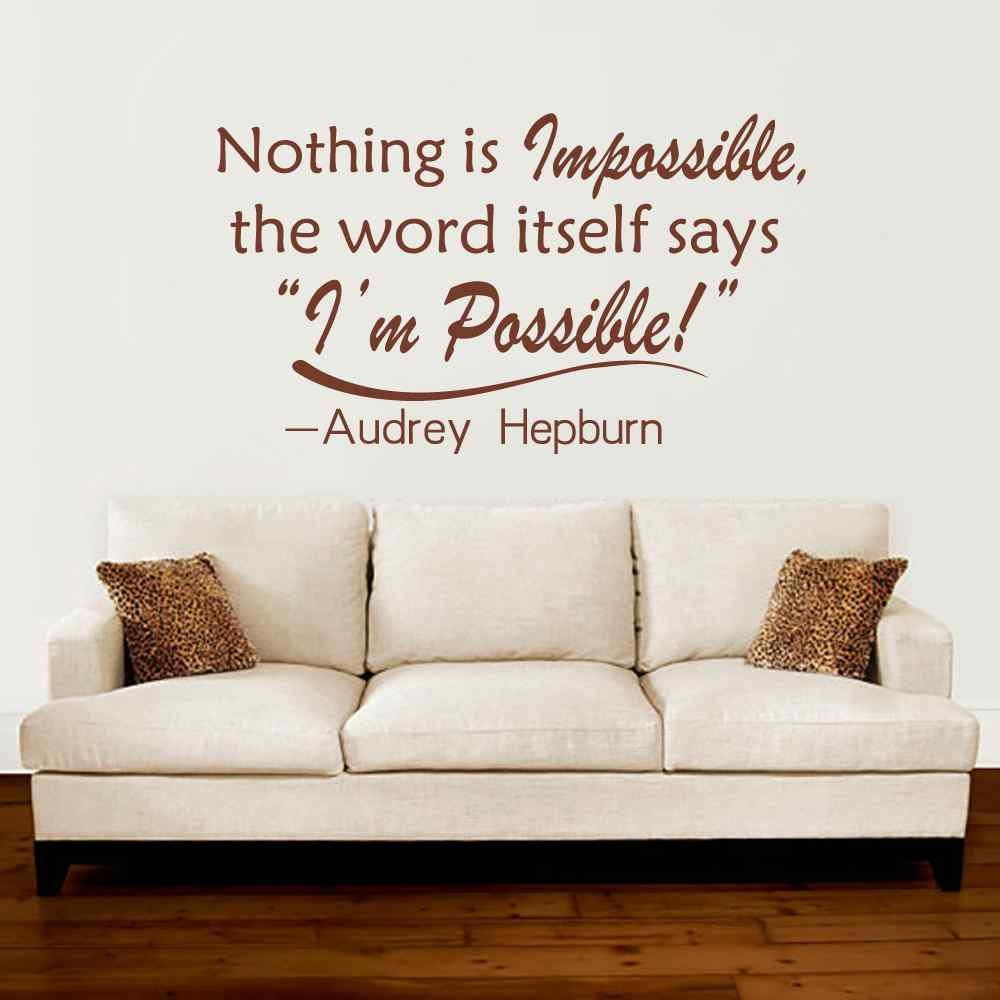 Amazon Battoo Audrey Hepburn Wall Decal Quote Nothing Is