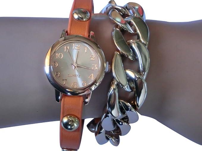 Pretty Classic Wrap Around pulsera de envoltura de relojes mujer muñeca Relojes Vintage Wrap Relojes: Amazon.es: Relojes